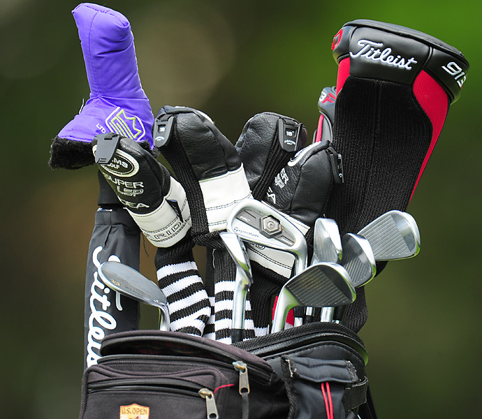 Geoffrey Sisk is using TaylorMade Tour Preferred Forged MC irons.
