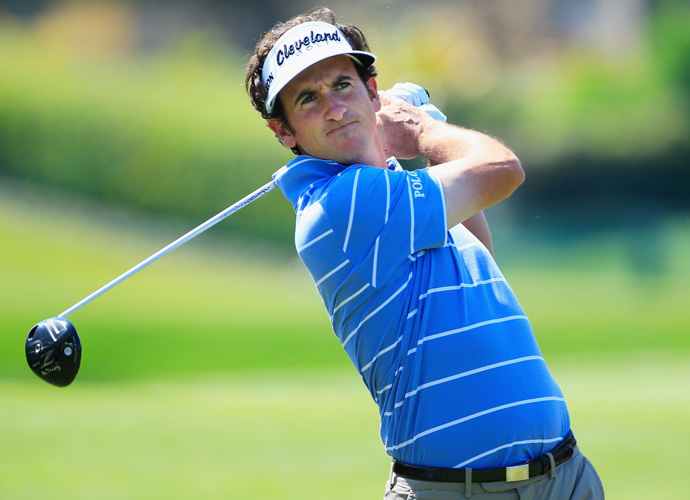Gonzalo Fernandez-Castano opened with a 66, his best round of the year, and stands in fourth.