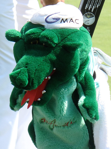 has a dragon guarding the Callaway clubs that helped him win the 2010 U.S. Open at Pebble Beach.