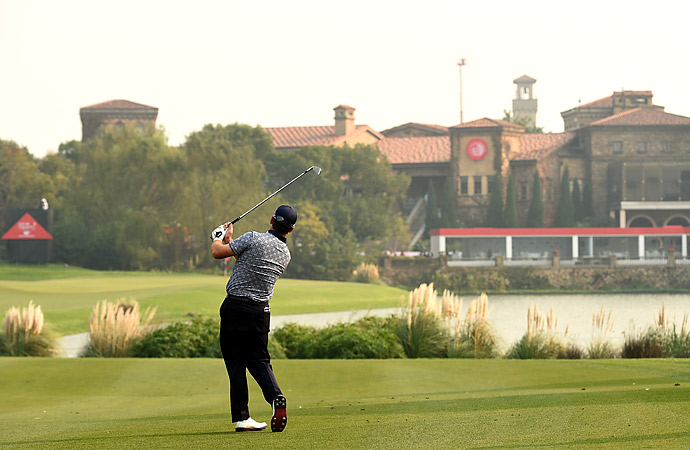 McDowell had seven birdies through his first 12 holes.