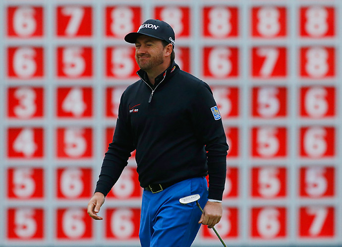He was in front by as many as four shots before seeing his lead dwindle on the back nine.