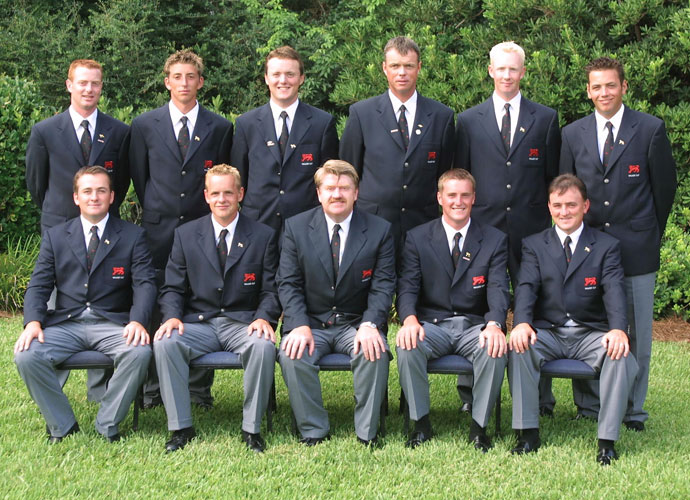McDowell was a member of the victorious Great Britain and Ireland Walker Cup team in 2001. That's Graeme at left in the front row, seated next to Luke Donald. McDowell and company defeated the American team, 15-9, in two days of matches in Sea Island, Ga.