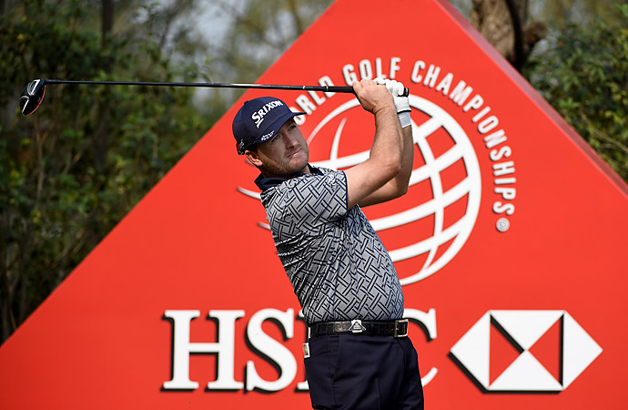 THURSDAY                     Graeme McDowell shot a five-under 67 to take a two-shot lead after the first round in Shanghai.