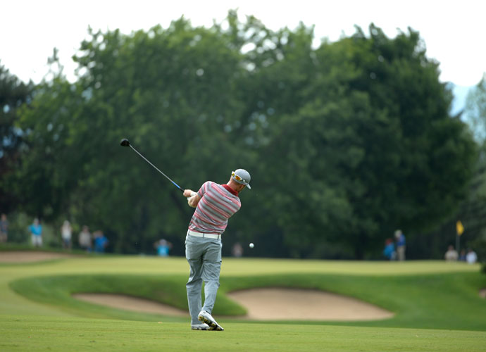 Graham DeLaet was tied for fifth, seven shots back of Jim Furyk, after a 2-under 70 Saturday.