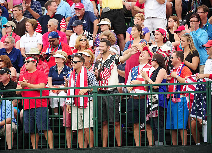 The fans on Thursday were highly partisan in favor of the Americans.