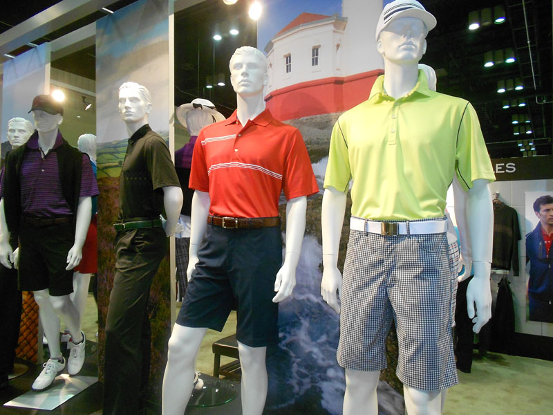 Greg Norman's latest collection is colorful and sharp.