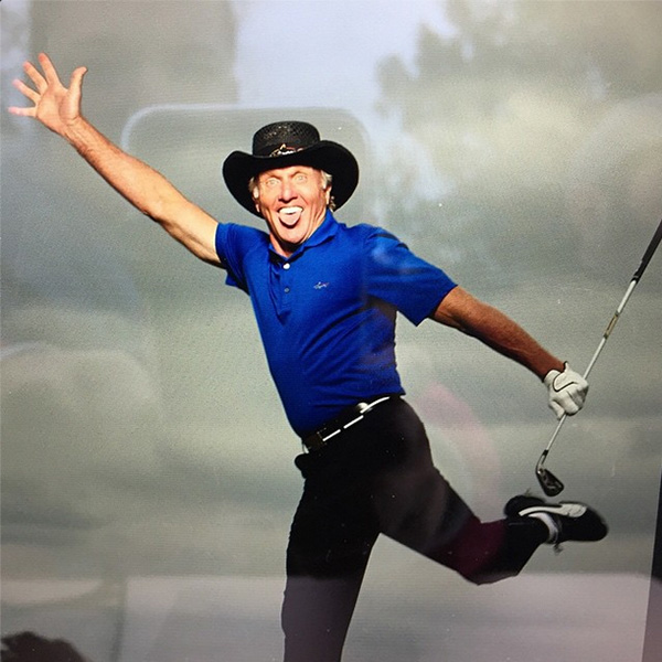 @shark_gregnorman After a long day shooting for @macys @gregnormanstyle #gregnormanfortassoelba I had to have little fun.