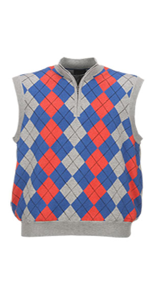 Greg Norman Lined 1/4 Zip Argyle Wind Vest, $89; gregnormancollection.com                       Stay warm and stylish in this 100 percent cotton vest, which is specially engineered to trap air inside the garment and lined for additional protection from the wind.