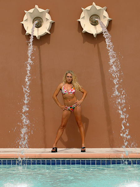 As Gulbis' game established her as a regular presence on the leaderboard, her calendars and modeling work continued.