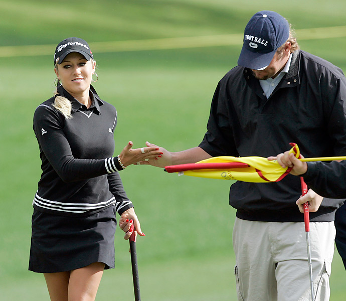 Gulbis played in the pro-am at the 2006 LPGA Kraft Nabisco Golf Championship with Steelers quarterback Ben Roethlisberger.