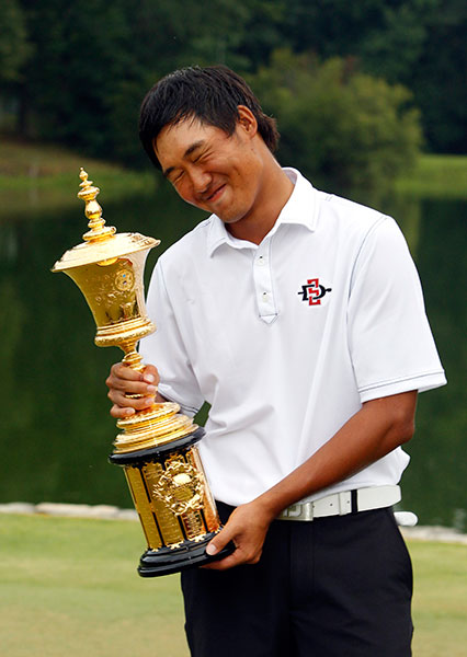 UPSET OF THE YEAR                     Gunn Yang winning the U.S. Amateur Cinderella herself would have been favored ahead of this 20-year-old South Korean. He arrived at the event in a pumpkin, not a chariot, as the world's 776th-ranked player. Then Yang won the most coveted trophy in amateur golf, overcoming back surgery just 15 months earlier and the loss of his college scholarship due to poor play. His triumph was a fantasy tale turned wonderfully real.