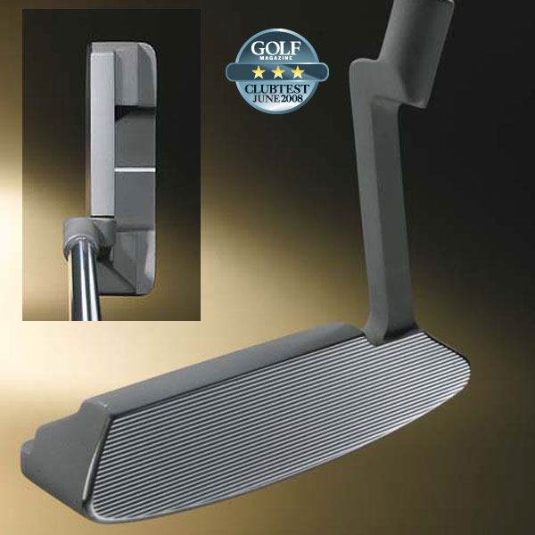 "Boccieri Heavy C2-DF                       $169                       heavyputter.com                                              WE TESTED                       34"" and 35"" in True Temper steel shaft                                              COMPANY LINE                       ""The CNC-milled, stainless steel head                       has a grooved face pattern. Total club                       weight is 850 grams, which includes a                       465-gram head (approx.) and 250-                       gram weight in the grip end to create a                       higher balance point (75 percent farther                       up the shaft) than a conventional putter.""                                              Our Test Panel Says ...                       Pros: The deep-face C2-DF ensures that straight-back-and-through strokes stay on plane; great for jamming in short putts; ball starts off on a nice roll, no jumping; smoothes out your stroke, helps prevent stabbing at the ball; short to mid-range putts stay online, find their target easily.                                              Cons: Surprisingly challenging to manage distance on longer putts; not a finesse club, it has as much control [sometimes more] as you do; lacks precise feel on impact; downhill putts can be difficult to control; overall, it has a bland look.                                               ""Pull it back and the club will accelerate through impact."" — Mark Waldheim (12)"