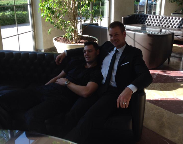 Henrik Stenson Martin and I getting ready for a Hugo Boss photo shoot today in Turkey.