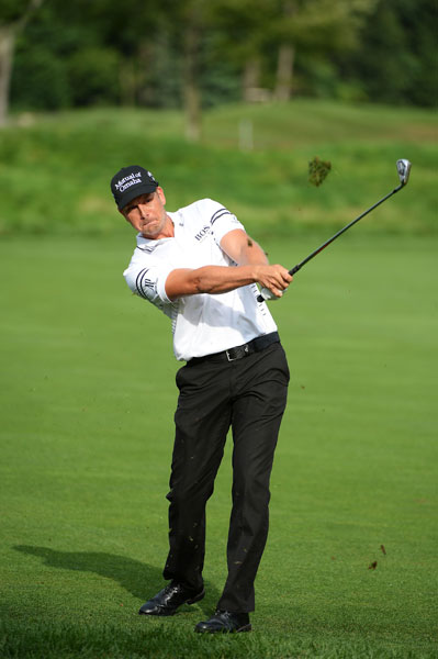 Henrik Stenson fired  a 7-under 64 Friday, tied for the low round of the day, and rocketed 67 spots up the leaderboard. Stenson won the Fed Ex Cup last year and will begin play Saturday two shots back of co-leaders Cameron Tringale and Adam Scott.