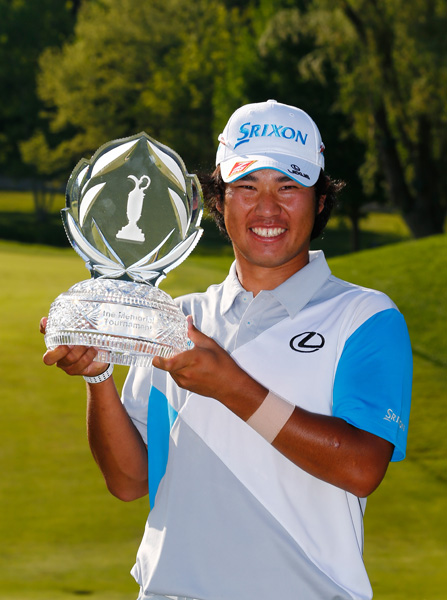 It was the 22-year-old's first PGA Tour win after five victories on the Japan Golf Tour.