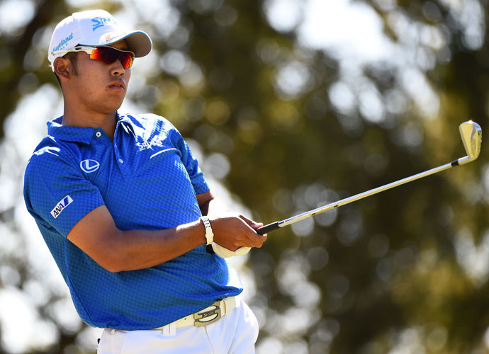 Hideki Matsuyama of Japan closed with back-to-back birdies to join the group at 12 under.