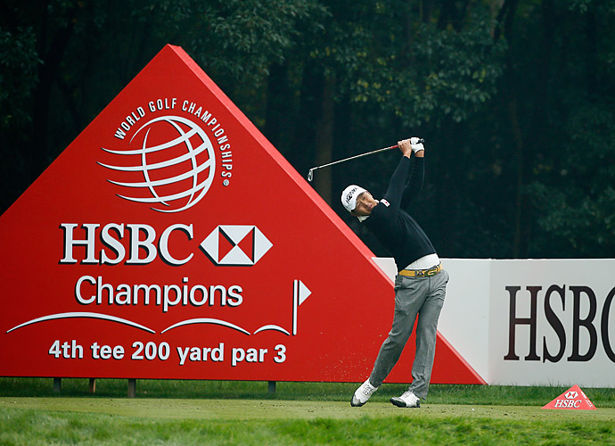Japan's Hiroshi Iwata is in sole possession of second after going four under in the third round.