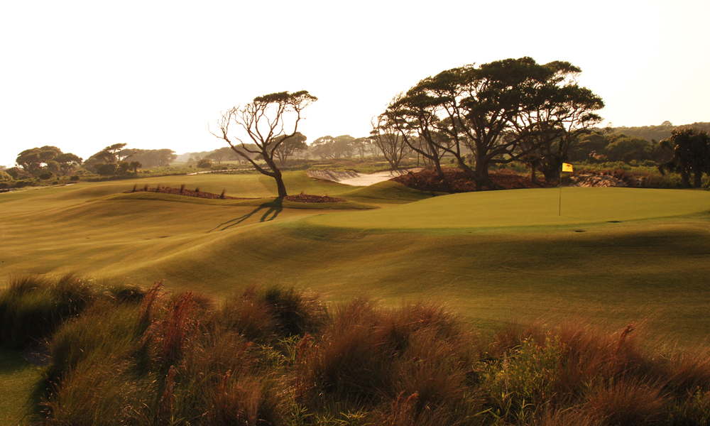 Hole 3, 390 yards, Par 4                       The shortest par-4 on the course, the third is all about the approach. Players enjoy a generous landing area off the tee but face a steep, crowned green set atop a flattened sand dune on their second.