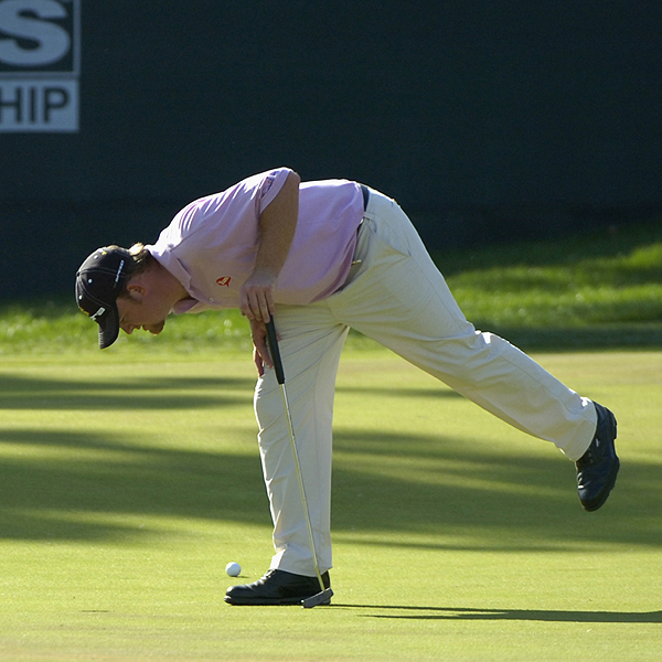 J.B. Holmes wanted to be sure nothing would stop his ball from getting to the cup.