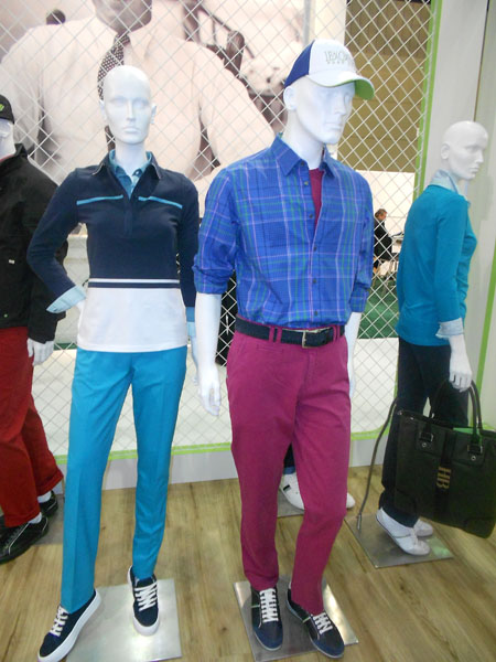 A colorful display from Hugo Boss.