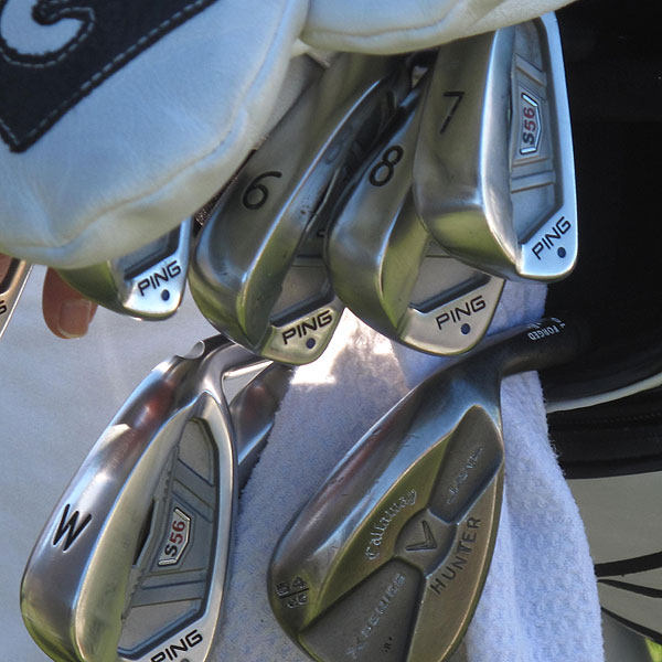 Hunter Mahan uses Ping S56 irons and Callaway X Series JAWS sand and lob wedges.