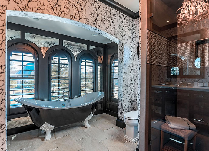 One of the home's bathrooms has a clawfoot tub.