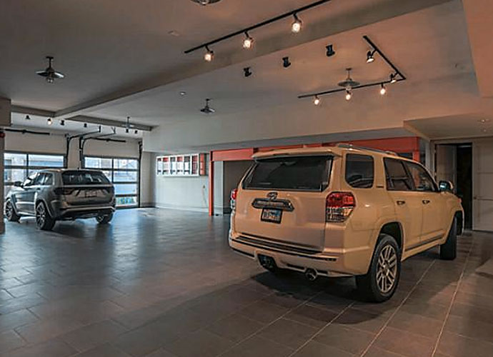 You'll have plenty of space to park your fleet in the 12-car garage.