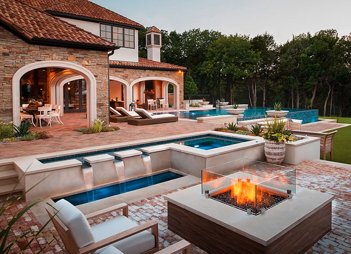 Gather around the backyard fire pit when the temperature dips near freezing in the winter.