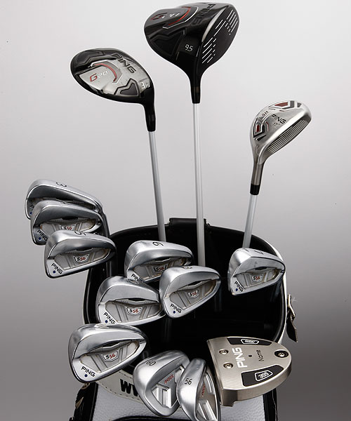Hunter Mahan has 14 Ping clubs in his bag.
