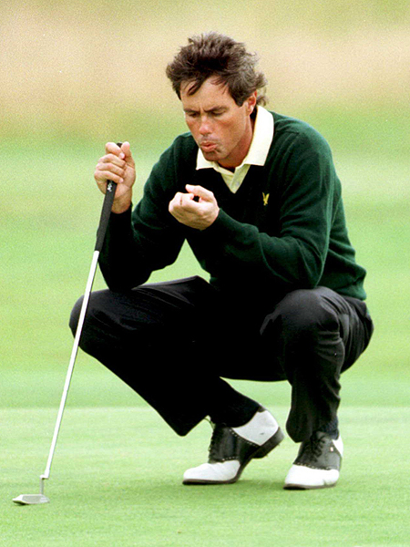 Ian Baker Finch was already in a freefall toward oblivion. Since winning the 1991 British Open, he'd been winless and in his most recent 27 starts he had missed 23 cuts and withdrawn twice after 80-plus opening rounds. Now it was the 1995 British Open and he stood on the first tee at St. Andrews waiting to start the opening round. While his playing partner, Arnold Palmer, stood watching, Baker Finch snap hooked his driver so badly that the ball crossed the parallel 18th fairway and went out of bounds. It is perhaps the worst shot in golf history, and 18 months later Baker Finch's career was over.