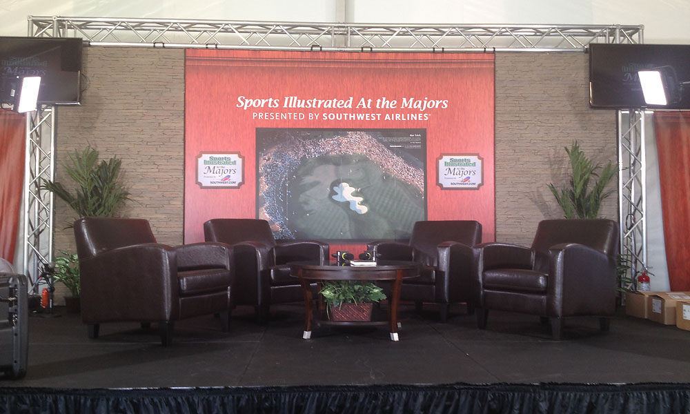 An inside glimpse of the SI at the Majors stage located in Freshfields Village.