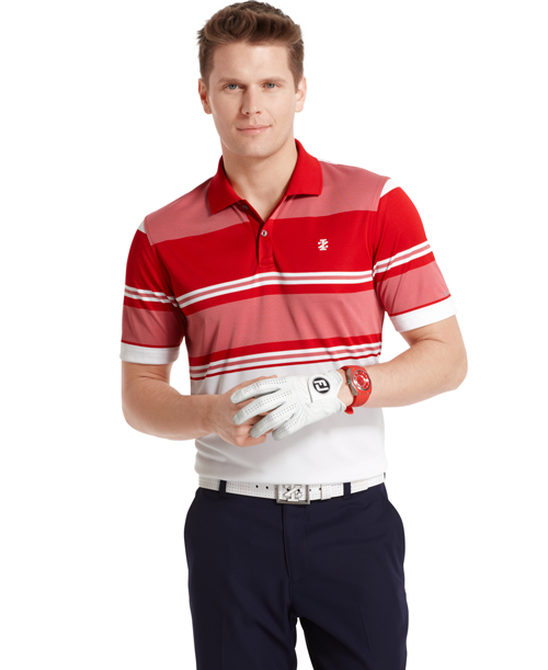 Izod English Stripe Polo ($58; Buy Now): Stay cool on the course with interior side vents and UV protection in Izod's fashionable and moisture wicking polyester polo.