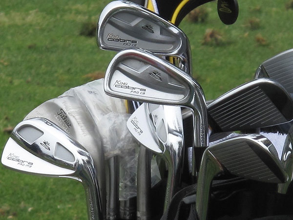uses Cobra Pro CB long irons and Cobra Pro MB short irons.
