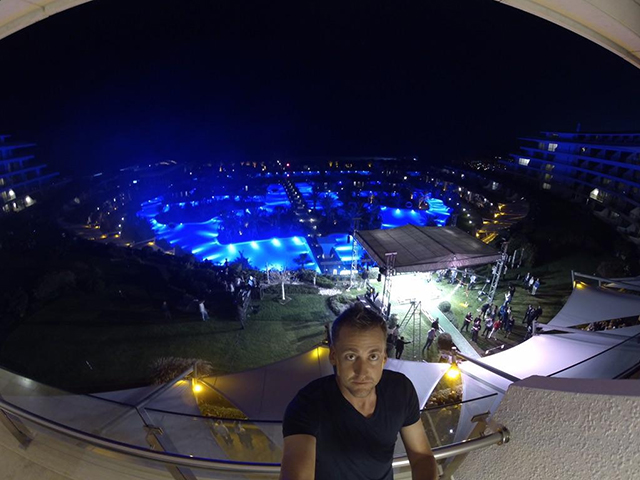 @IanJamesPoulter They don't things by half at the MAXXROYAL hotel in turkey. Great balcony shot overlooking tonight's event. #GoPro