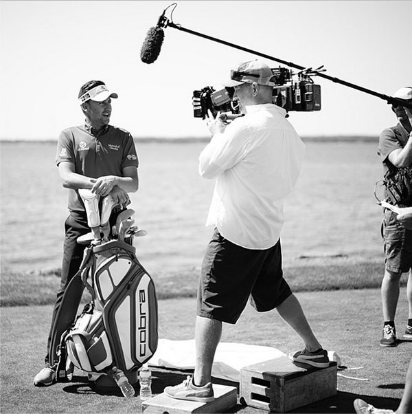 @ianjamespoulter Just finished the #Titleist golf ball commercial up here in Boston. Always good fun with Team #Titleist