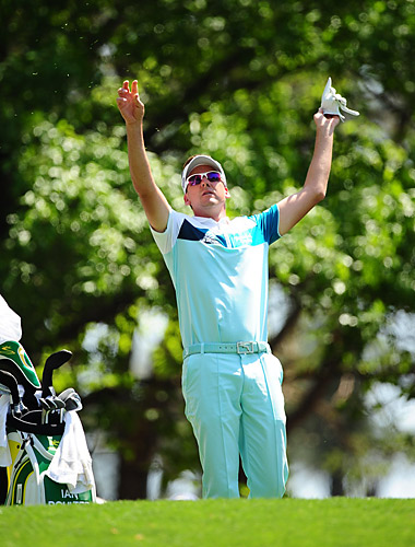 Ian Poulter was going really low before making two bogeys on the back. He sits at even par for the tournament.