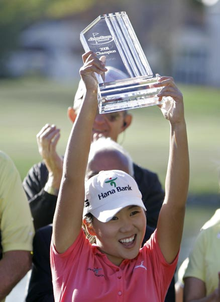 Round 4 of the Longs Drugs Challenge                     In-Kyung Kim of South Korea finished 10 under to win the Longs Drug Challenge on Sunday. It was her first LPGA victory.