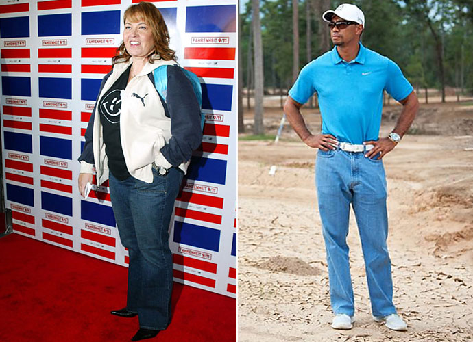 "On the course, he's spiffy - tailored slacks, bold patterns, sleek style. But off the greens, Tiger Woods has opted for swimming button downs, baggy sweatshirts and the repeat offender: the dreaded Roseanne Barr-esque ""Mom Jean."" Is Tiger the world's worst dressed athlete?"