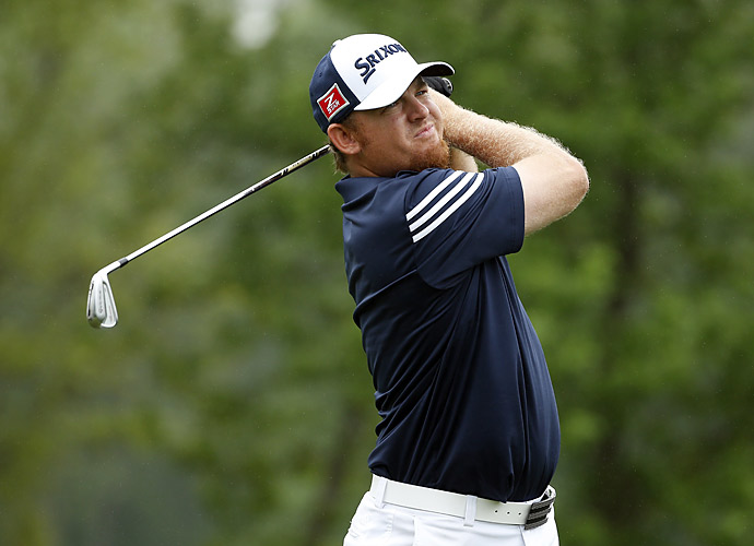 J.B. Holmes was one of five players stuck one back of the lead at six under.