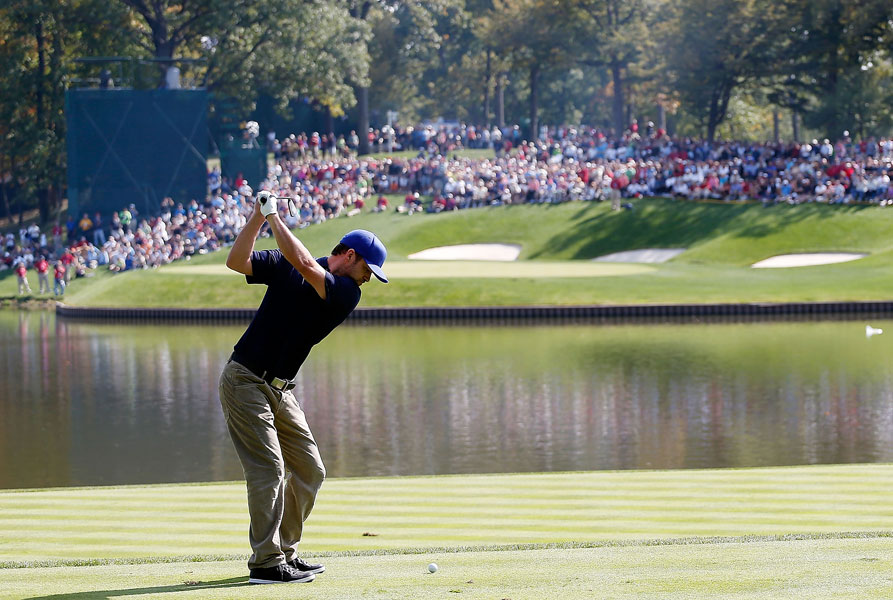 Justin Timberlake served as an ambassador for the U.S. team during the 2012 Ryder Cup and hosted the Shriners Hospitals for Children Open from 2008-2012. Timberlake also co-owns a golf course with his parents in his hometown of Memphis, Tenn.