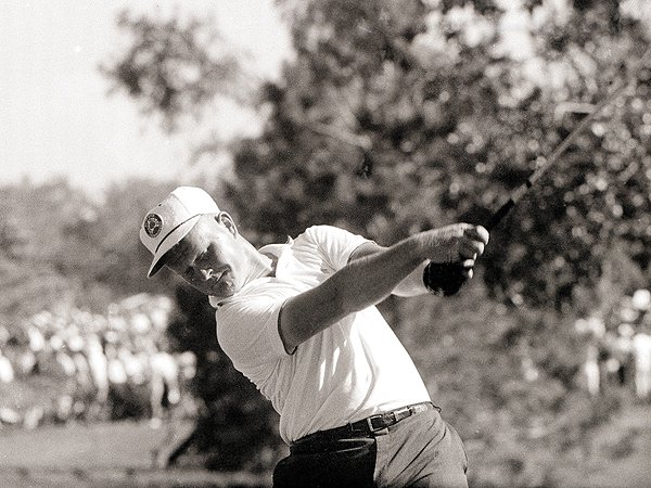 A 22-year-old Jack Nicklaus took on the well-established Arnold Palmer at the 1962 U.S. Open. Nicklaus' first of a record four U.S. Opens came as he defeated Palmer in a playoff, signaling the beginning of a new era.