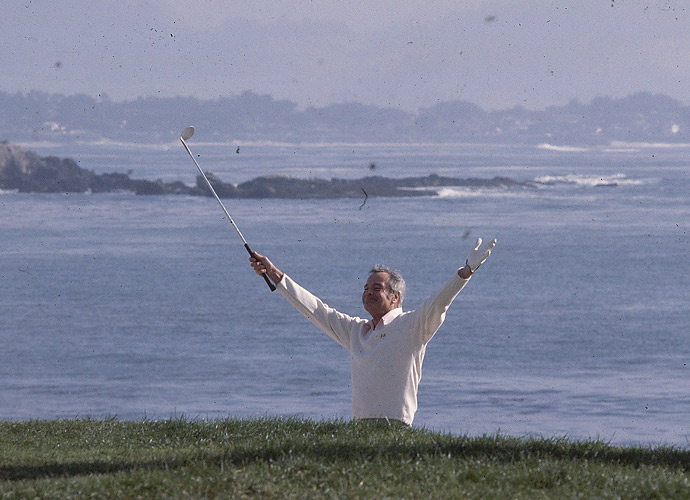 The late, great Jack Lemmon was a regular participant at the Pebble Beach National Pro-Am.