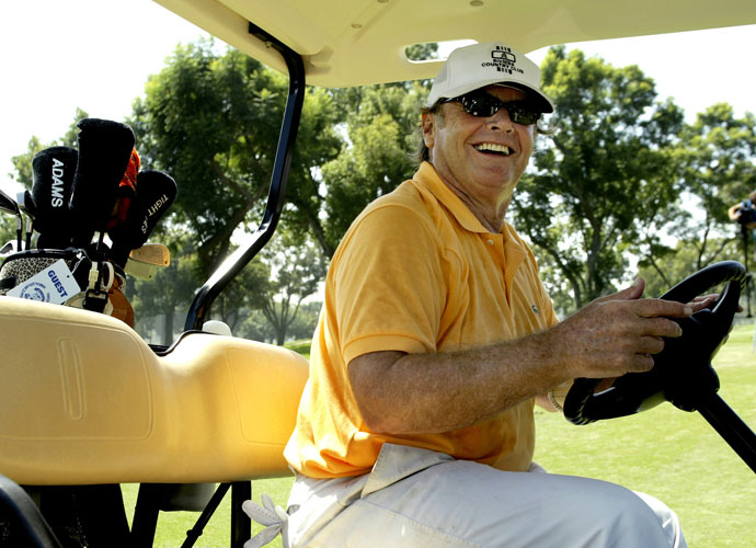 Jack Nicholson is a reported 12.5 index at Bel-Air Country Club in California. We don't know if that's with or without the $75,000 clubs he purchased last year.