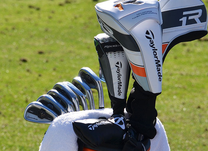Jason Day keeps his TaylorMade Forged Tour Preferred MC irons in neat, orderly rows.