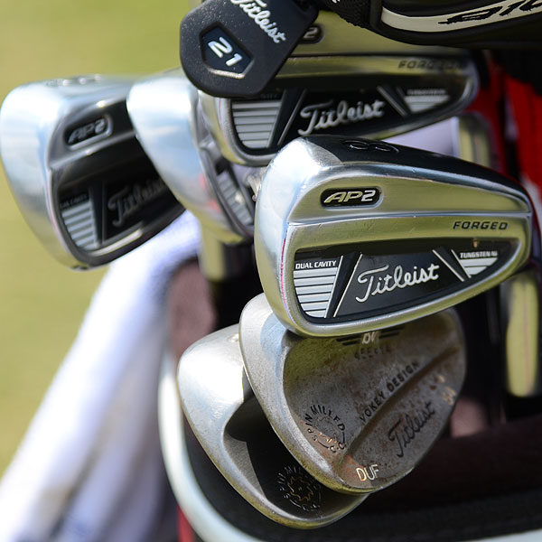 Jason Dufner plays Titleist's 710 AP2 irons and >Vokey Design Spin Milled wedges.
