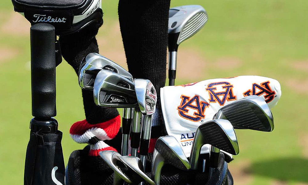 "Jason Dufner may not hear many shouts of ""War Eagle"" at Royal Lytham & St. Annes, but his Auburn headcover made the trip to England along with his Titleist 712 AP2 irons."