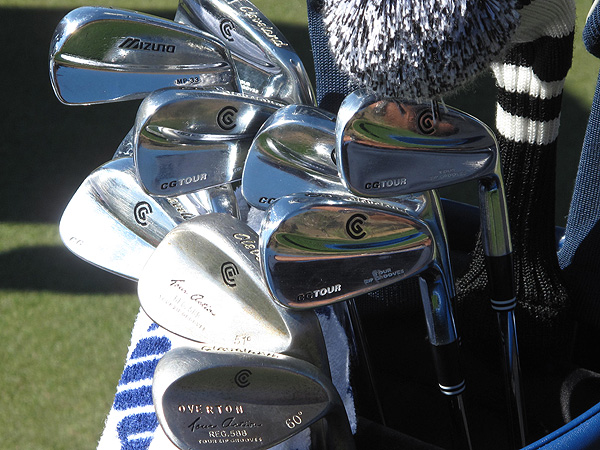 Jeff Overton has Cleveland's classic-looking CG Tour irons.