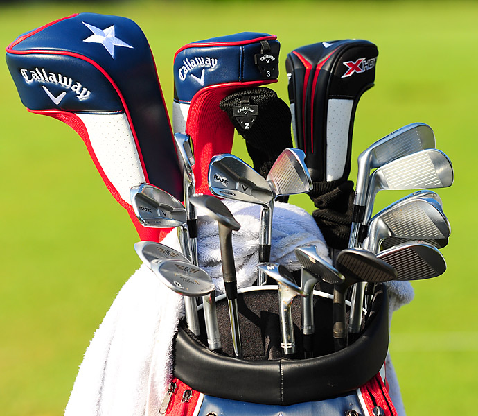 Jesse Smith, a mini tour player who got the chance to play a few holes with Tiger Woods this week, uses Callaway RAZR X Muscleback irons.