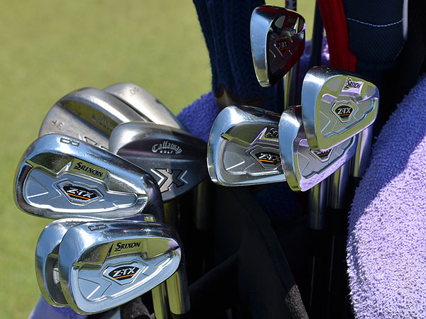 Jim Furyk plays Srixon Z-TX irons.