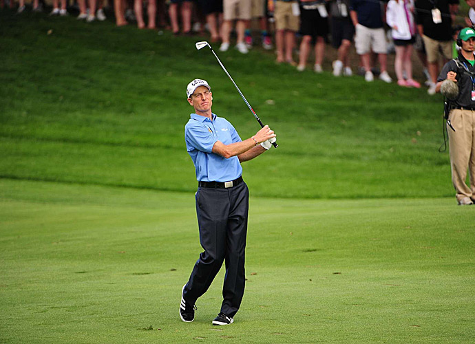 Jim Furyk began the day with the lead but could not hold on.